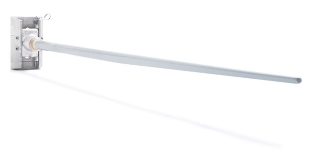 "Metro Banner Bracket with Airow Rod 25"" Casting/Grey Airow Fiberglass Rod"