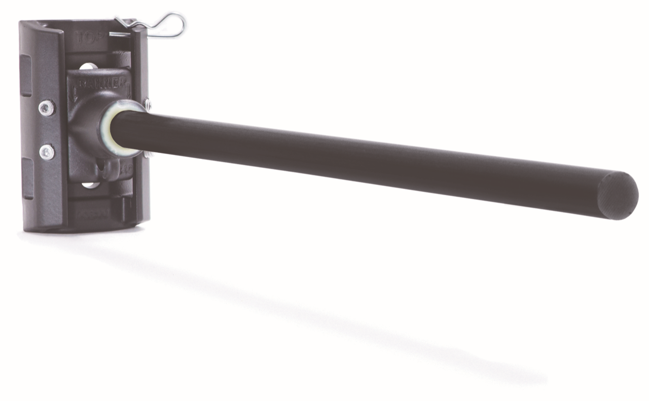 "Metro Banner Bracket with Round Arm 19"" Black Casting/Black Fiberglass Rod"
